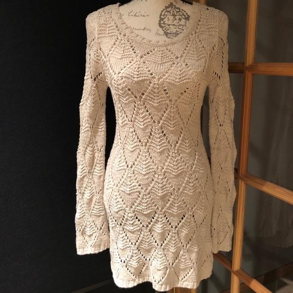 Frenchi Dresses & Skirts - FRENCHI Open Knit Dress